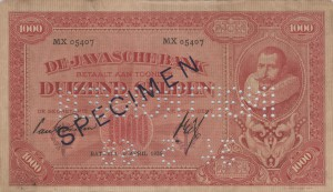 De Javasche Bank note issues, series Coen II